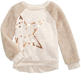 Epic Threads Faux Fur Sleeve Sweatshirt, Little Girls (4-6X), Created for Macy's