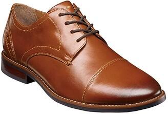 Nunn Bush Fifth Ward Flex Cap Straight Toe Oxford (Black) Men's Shoes