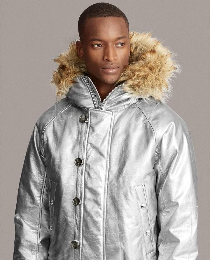 Ralph Lauren Foil Leather Down Coat