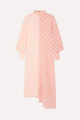 Mother of Pearl + Net Sustain And Bbc Earth Millie Asymmetric Polka-dot Organic Silk Dress - Pink
