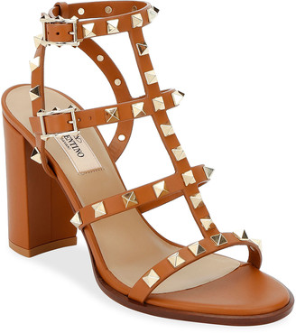 Valentino Garavani Rockstud Caged Leather 90mm City Sandals