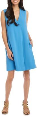 Karen Kane Pleat Front Shift Dress
