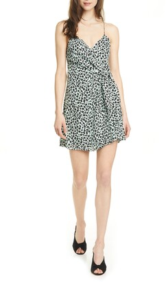 Alice + Olivia Katie Cheetah Wrap Front Minidress