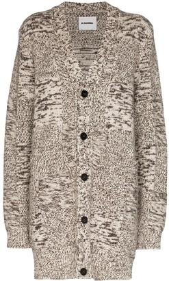 Jil Sander oversized marled cashmere cardigan
