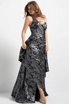 Jovani 48786 One Shoulder Metallic Evening Gown