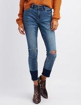 Charlotte Russe Refuge Hi-Rise Colorblock Skinny Jeans