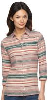 Woolrich Women's First Light Jacquard Striped Shirt