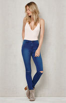 PacSun Chicago Blue Ripped High Rise Jeggings