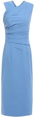 Rachel Gilbert Atlas Ruched Crepe Midi Dress