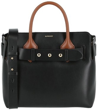 Burberry Small Leather Studded Tote Bag