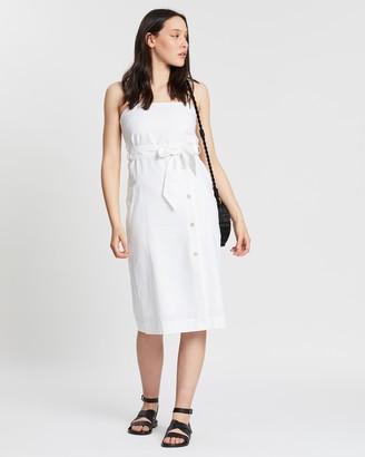 Nude Lucy Neve Linen Midi Dress