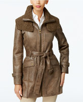 Kenneth Cole Faux-Shearling Trench Coat