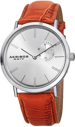 Akribos XXIV Leather Watch