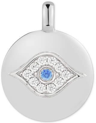 "Swarovski Charmbar Zirconia Evil Eye ""Eye Got your Back"" Reversible Charm Pendant in Sterling Silver"