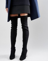 Asos KALIDA Clear Heel Over The Knee Boots