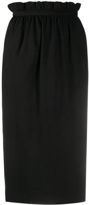 Versace Paperbag Waist Straight Skirt