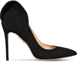 Charlotte Olympia 110MM BLAKE SUEDE PUMPS