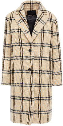 Maje Checked Woven Coat