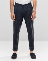 Sisley Slim Fit Trousers With Tonal Stripe