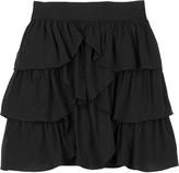 Kova & T Ruffle jersey mini skirt