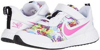 Nike Kids Revolution 5 Fable (Little Kid) (White/White/Fire Pink/Blue Fury) Girl's Shoes