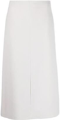 Patrizia Pepe front slit A-line skirt