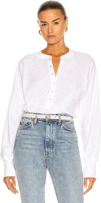 Marissa Webb So Uptight Thermal Henley in White | FWRD