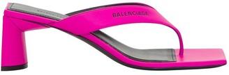 Balenciaga Double Square Open Back Sandals