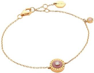 Marli Coco Femme 18K Rose Gold, Diamond & Pink Opal Chain Bracelet