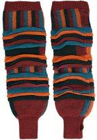 Issey Miyake tucked jacquard leg warmers