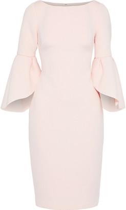 Badgley Mischka Fluted Scuba Dress