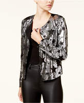 XOXO Juniors' Sequined Flyaway Blazer