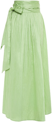 Rodebjer Journey Gathered Crinkled-cotton Maxi Wrap Skirt
