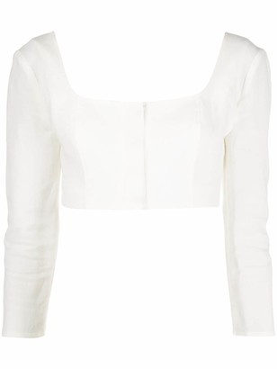 Le Kasha Long-Sleeved Cropped Top
