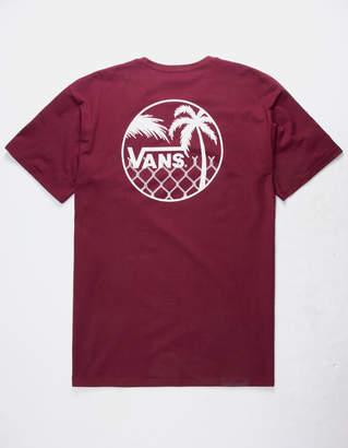 Vans Chain Link Palm Burgundy Mens T-Shirt