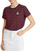 Lauren Ralph Lauren Striped Anchor-Patch Tee
