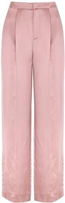 Vince Blush Wide-leg Satin Trousers