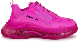 Balenciaga Triple S Fuchsia Mesh Sneakers