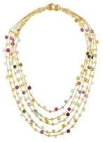 Marco Bicego 18K Paradise Five Strand Multistone Necklace