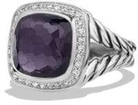 David Yurman Albion® Ring With Black Orchid And Diamonds, 11Mm