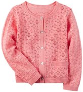 Carter's Girls 4-8 Solid Crocheted Cardigan