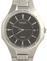 Seiko SGEF61 Stainless Steel Black Dial 38.8mm Mens Dress Watch