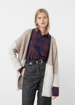 MANGO Contrasting Wool-Blend Cardigan
