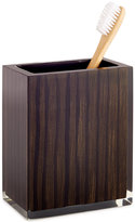 Hotel Collection Hotel Collection, Wood Veneer Toothbrush Holder