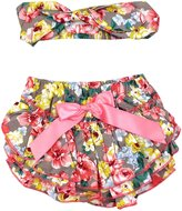 DQdq Baby Girls Cotton Ruffle Panties Briefs Bloomer Diaper Cover