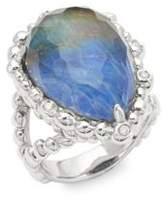 Michael Aram Diamonds Lapis Labradorite Large Teardrop Ring