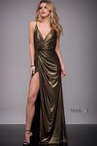 Jovani Long Jersey V-Neck Contemporary Dress M616