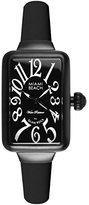 Glam Rock Women's MBD27027 Miami Beach Art Deco Black Dial Black Silicone Watch