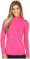 Spyder Shimmer Bug Velour Fleece T-Neck Top Women's Long Sleeve Pullover
