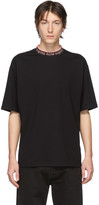 Acne Studios SSENSE Exclusive Black and Pink Logo Neck T-Shirt